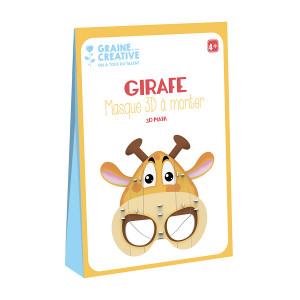 Masque 3D à monter Girafe