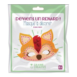 Masque en feutrine kit Renard