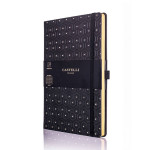 Carnet de notes ligné Black&Gold 13 x 21 cm Honeycomb