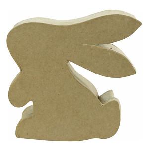 Boîte lapin en papier mâché 12,5 x 4 x 12,5 cm