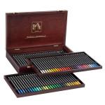 Coffret beaux-arts en bois - 80 crayons aquarellables Museum