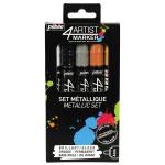 Feutre peinture 4Artist Marker 4 mm - Assortiment métal