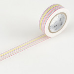 Masking tape rayures multicolores
