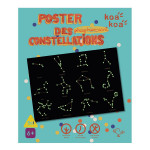 Coffret d'activité Dessine poster des constellations phosphorescent