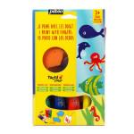 Peinture Tactilcolor 4 couleurs 20 ml - thème animaux marins