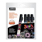 Marqueur acrylique Skrib 4 couleurs Perle