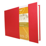 Livre à croquis format paysage couverture rouge 140g/m² - 14,8 x 21 cm (A5)