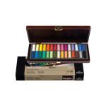 Coffret en bois de 30 demi-pastels secs Rembrandt