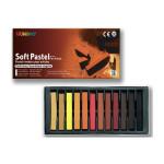 Pastels secs carrés - 12 sanguines