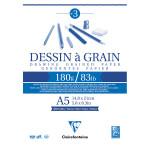 Bloc dessin à grain 180 g/m² - 14,8 x 21 cm (A5)