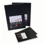 Carnet à dessin souple couverture noire 140 g/m² - 14,8 x 21 cm (A5)