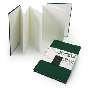 Carnet accordéon USKbook Papier grain torchon 300 g/m²