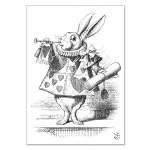 Carte double à colorier 12 x 17 cm The White Rabbit