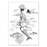 Carte double à colorier 12 x 17 cm Lily Water