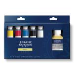 Peinture à l'huile fine LB 5 tubes 40 ml + additifs