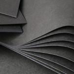 Carton Noir Ame Noir 50 x 70 cm 400 g/m²
