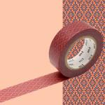 Masking Tape 1P Hanabishi kakishibu 15 mm x 10 m