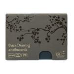 Carte Haïku papier Dessin noir 325 g/m² x 24 F 14,7 x 10,6 cm