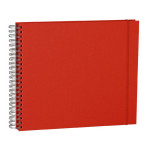 Album Maxi Mucho 90 pages noires couverture lin 34,5 x 30 cm - Rouge