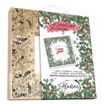 Tampon Doodler Stamp cadre Noël houx