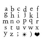 Tampons Alphabet minuscule en bois