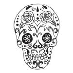 Tampon bois - Tête de mort - 4,7 x 6,7 cm